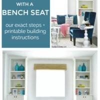how to build built-ins with a bench seat
