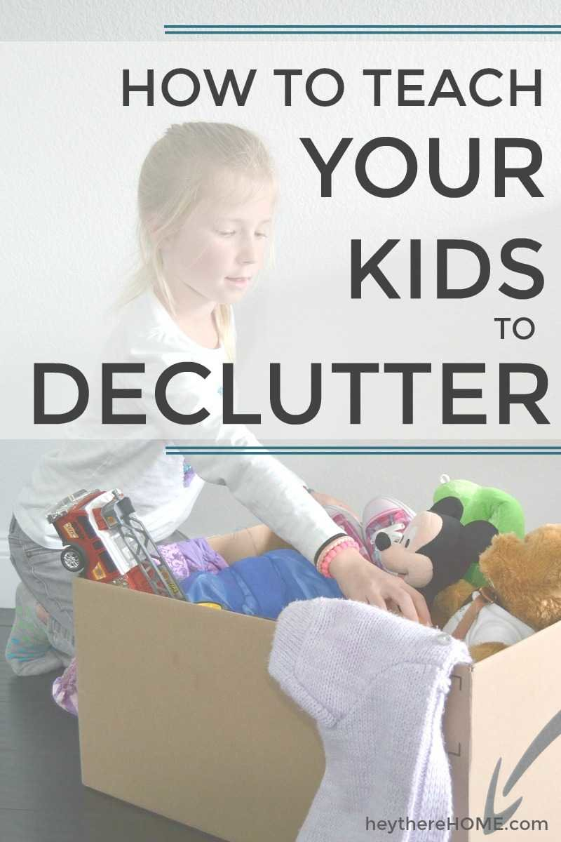 kids room organization - how to teach kids to declutter
