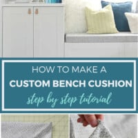 DIY bench seat cushion instructions