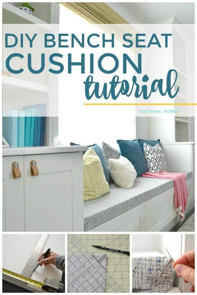 DIY bench seat cushion tutorial