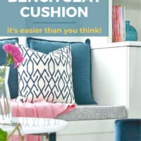 how to make a custom bench seat cushion