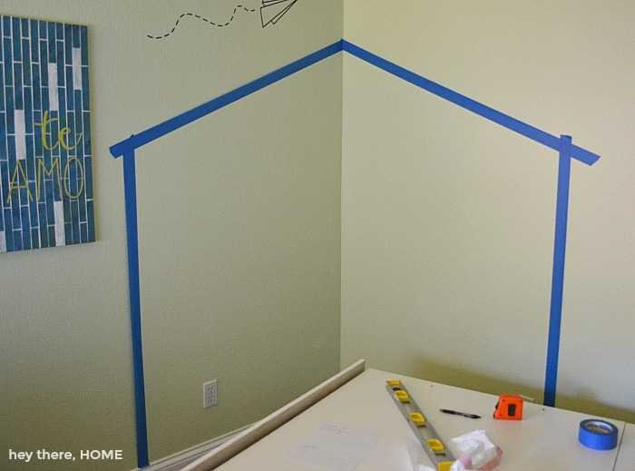 how to paint a headboard on the wall