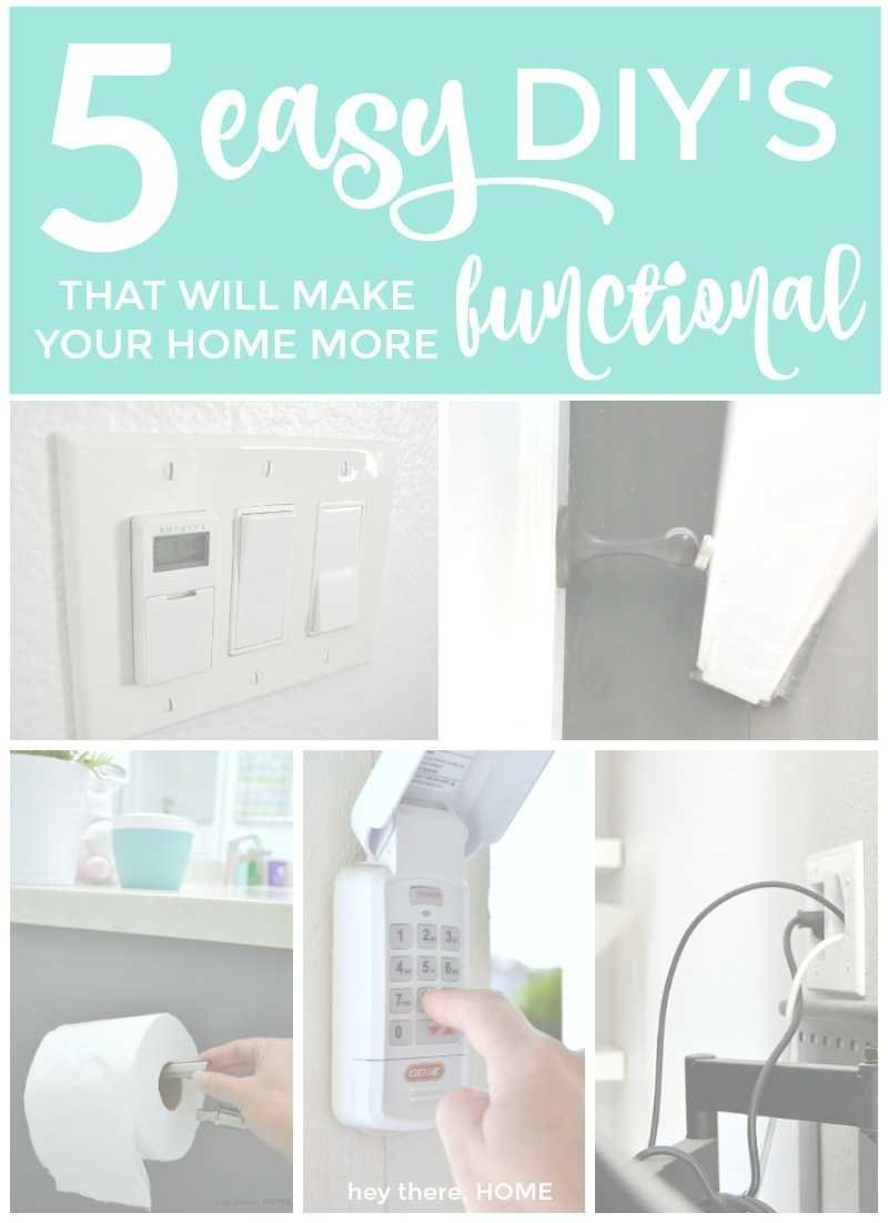 5 easy diys that will make your home more functional