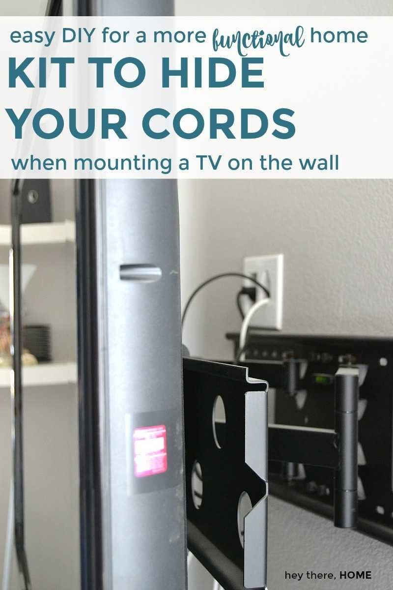 Easy DIY kit to hide your cords when mounting a tv on the wall