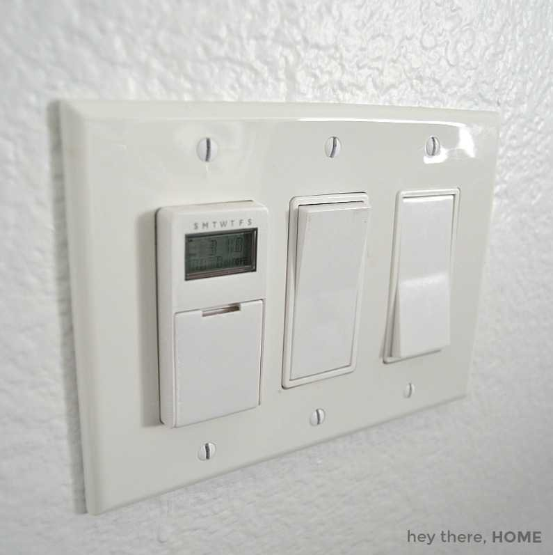 digital in-wall timer for lights