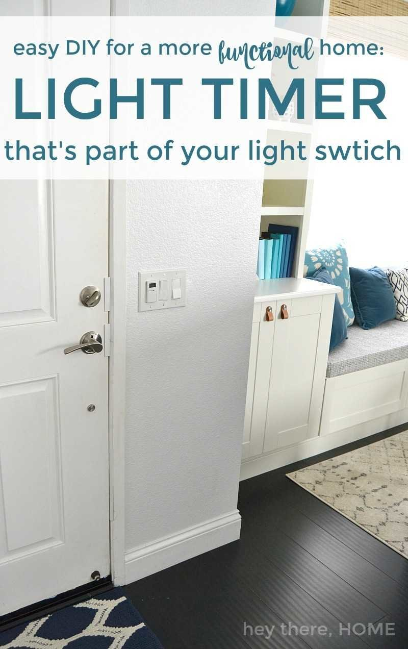 light timer that's part of your light switch