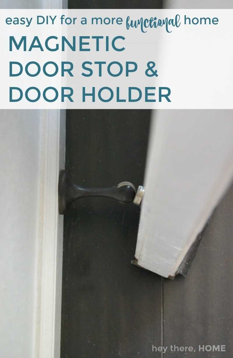 magnetic door stop and door holder