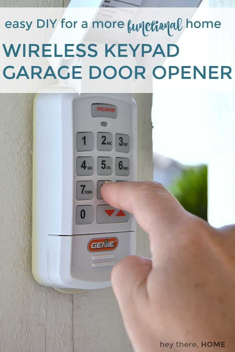 wireless keypad garage door opener