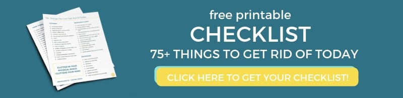 free declutter checklist 75 things to get rid of today