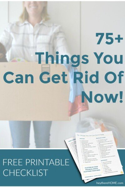 free decluttering checklist 75 things you can get rid of today