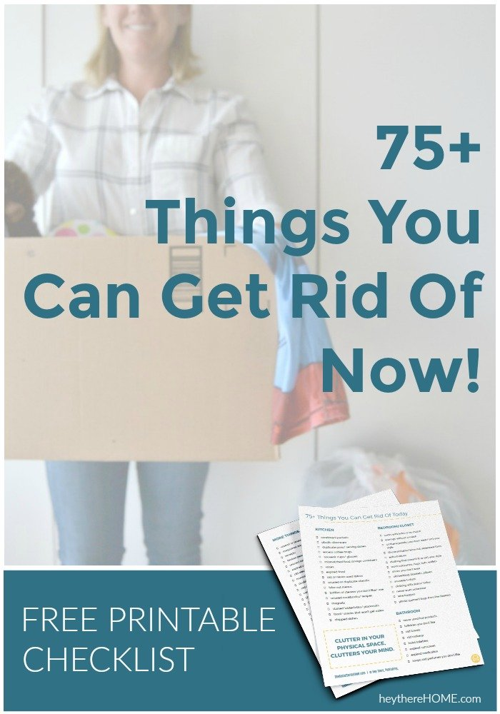 free declutter checklist 75 things you can get rid of today