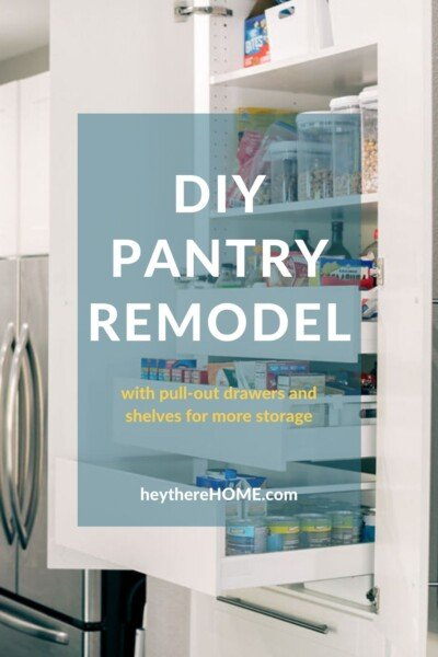 Pantry Remodel with pull out drawers