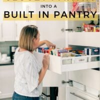 transform your closet pantry into a built in pantry