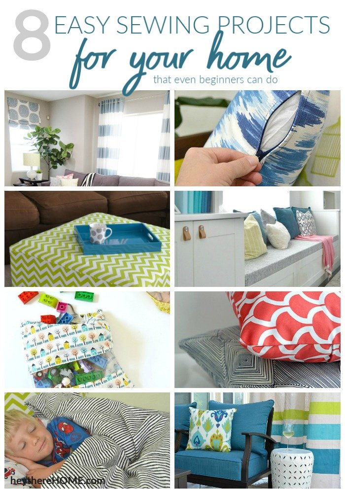 Easy sewing projects for the home that even a beginner can do!