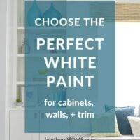 Choose the perfect white paint for cabinets & trim