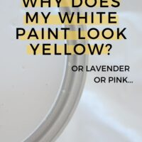 Why does my white paint look yellow