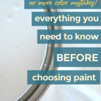 how to avoid color mistakes when choosing paint