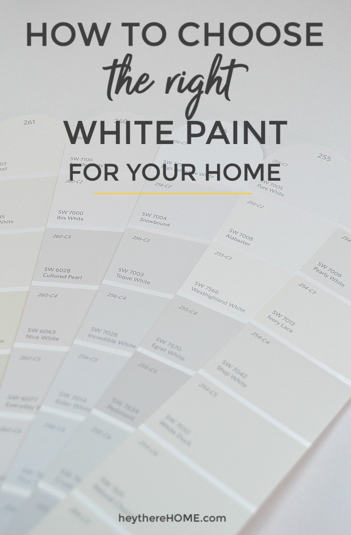 how to choose the right white paint for your home