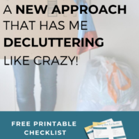 Free printable decluttering checklist to help you declutter and organize your home without the overwhelm. This new approach to decluttering will keep you motivated and on track to create a home you love. Enter your email address to download your checklist instantly!