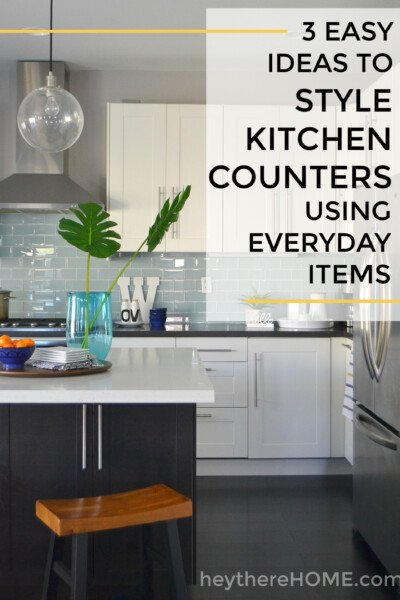 How to decorate kitchen counters