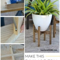 easy modern plant stand tutorial