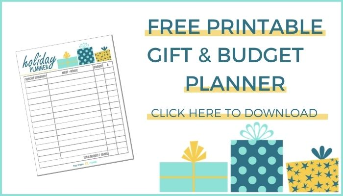 FREE PRINTABLE GIFT & BUDGET PLANNER