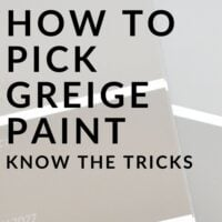 how to pick greige paint