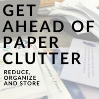 Get Ahead of Paper Clutter