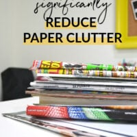 how to reduce paper clutter