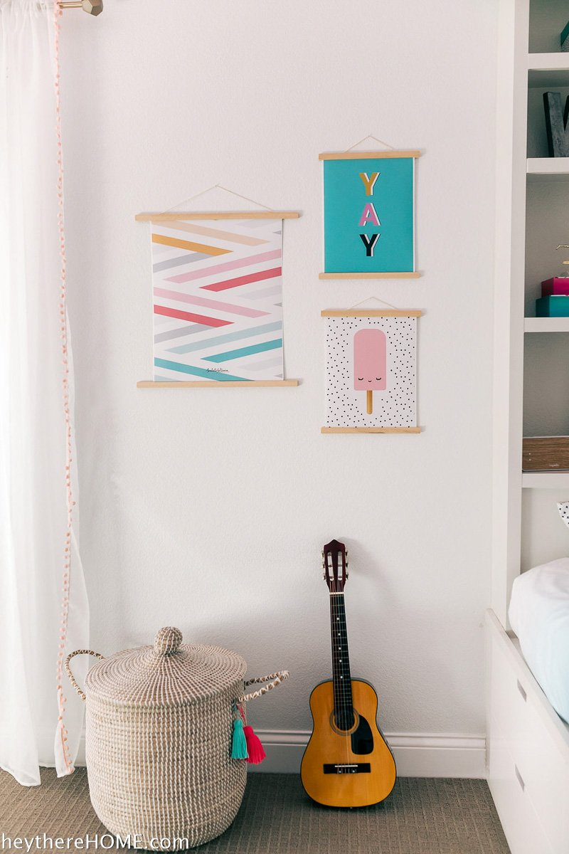 easy wall art for girl's bedroom decor