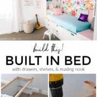 DIY BUILT IN BED