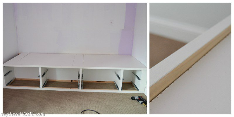 top trim of platform bed