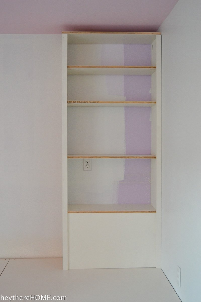trim out diy shelves