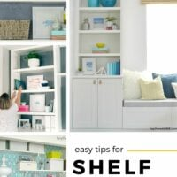 easy tips to decorate shelves
