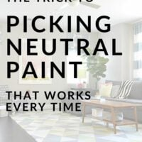 The trick to picking neutral paint