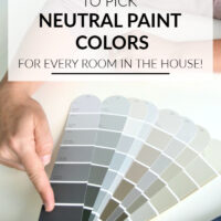 how to pick neutral wall colors