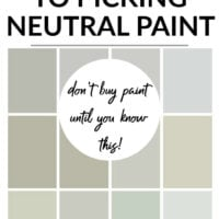the trick to picking neutral paint colors
