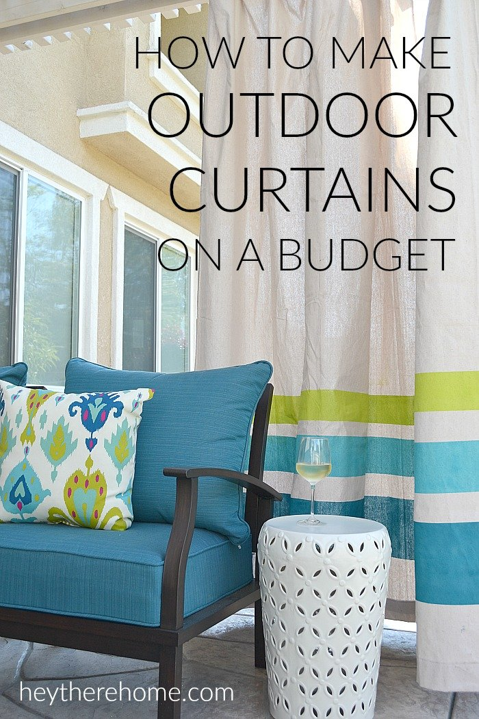 Simple Diy Outdoor Curtains Tutorial Using Drop Cloths