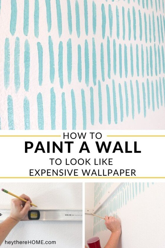 DIY Accent Wall – Faux Wallpaper