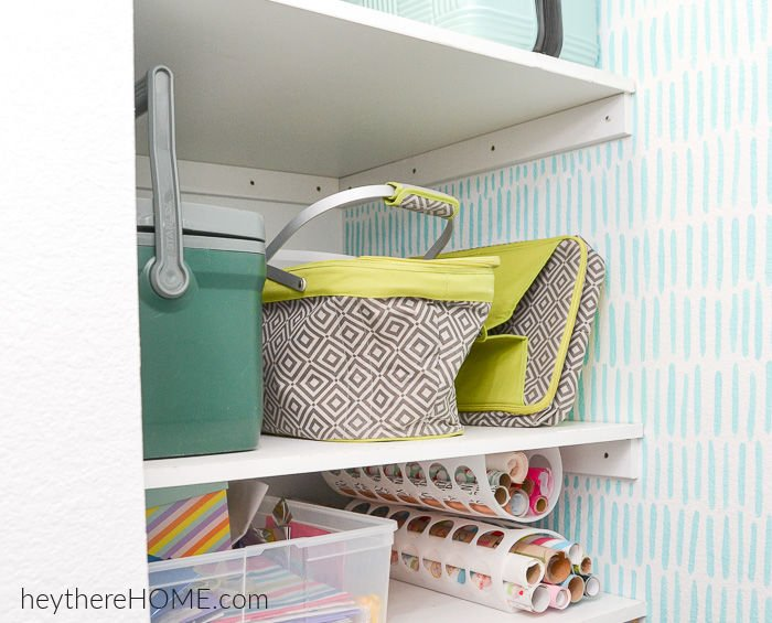 shelving in understairs closet