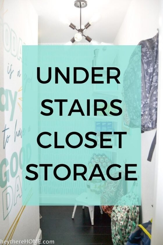 Under Stairs Closet Storage – The Reveal
