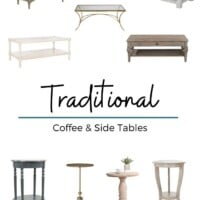 Traditional coffee and side tables