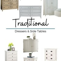 Traditional dressers and nightstands