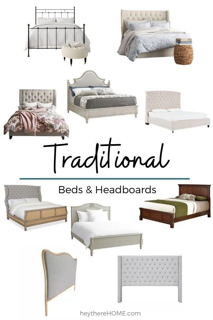 Traditional beds and headboards