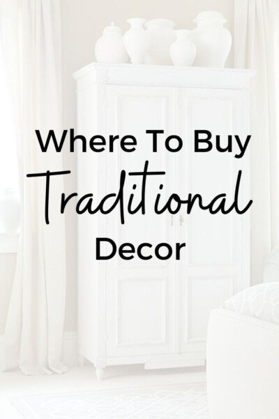 Where to buy traditional decor