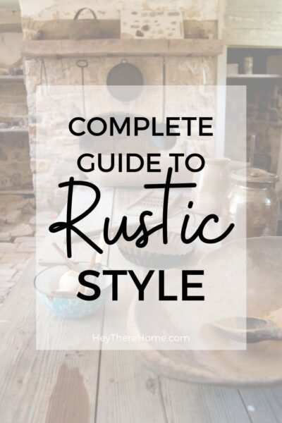 How to make your house look rustic