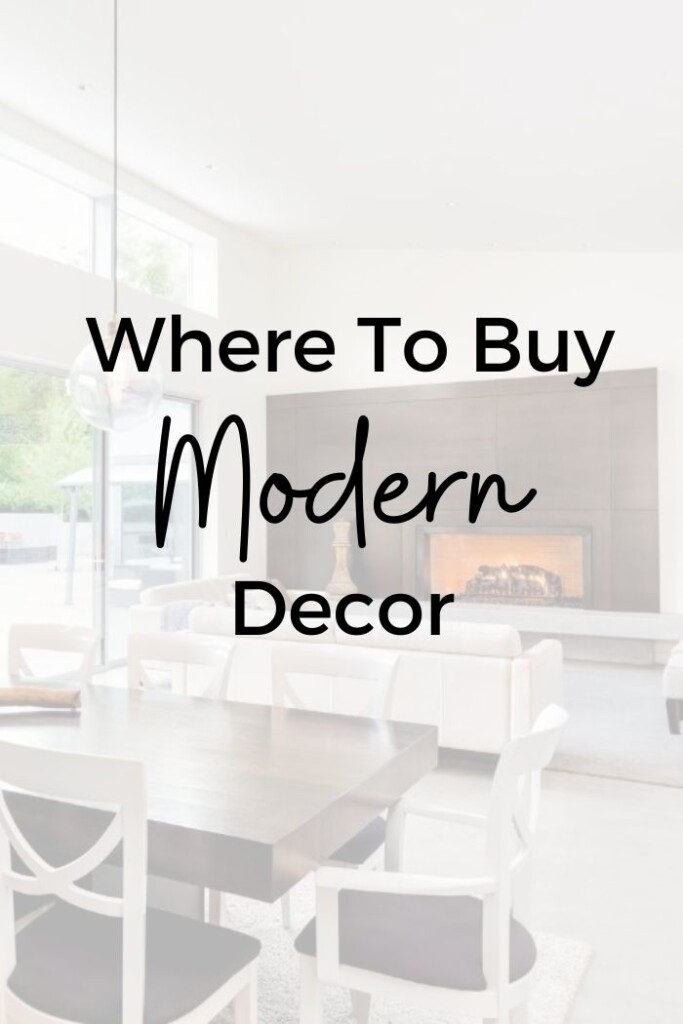 Where to buy modern decor for your home