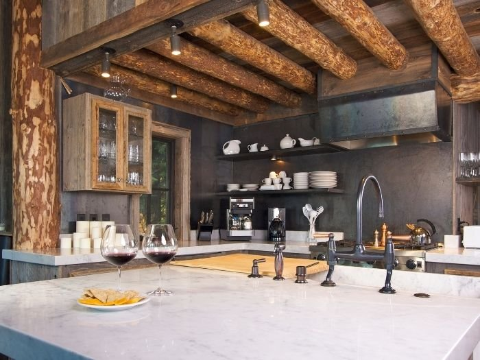 ideas to incorporate rustic home design with new kitchen
