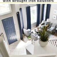 How to install wrought iron ballusters