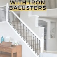 DIY staircase makeover with iron balusters